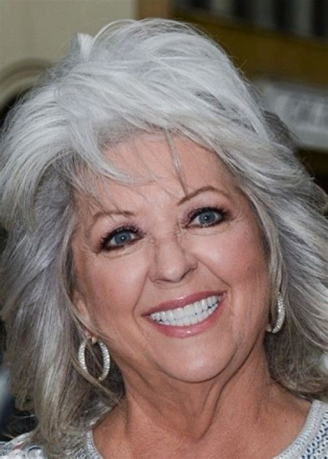 is paula deens hairstyle good for thin hair 10 long gray hairstyles 9 paula deen s layered gray