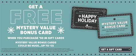 Applebees Gift Card Promotion - applebee s mystery values gift card promotion get one free mission to save
