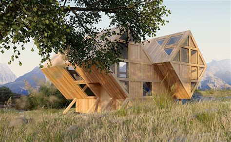Gorgeous Valley House Is A Geometric Timber Cabin Inspired Bureau Vallã E 13