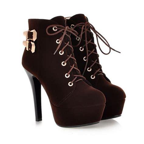 brand designer autumn high heel motorcycle boots