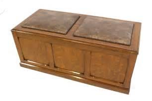 Chest Ottoman Upholstered Oak Ottoman Chest Trunk Storage Box Antiques Atlas
