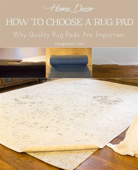 how to choose a rug pad