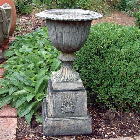 Large Garden Planters Uk by Modena 30 Vase Plant Pot On Plinth Large Garden