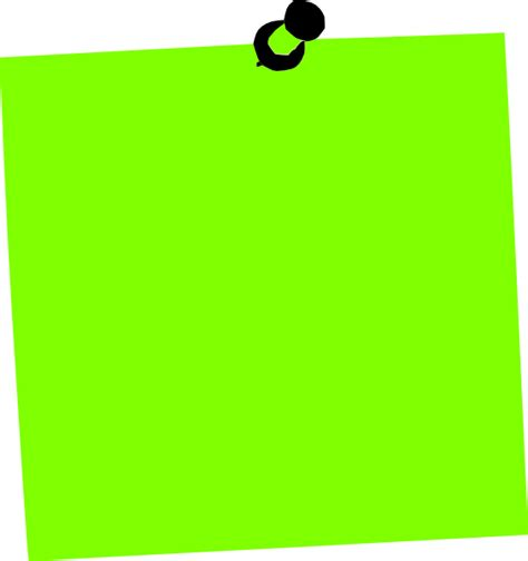 post it note green clip at clker vector clip royalty free domain