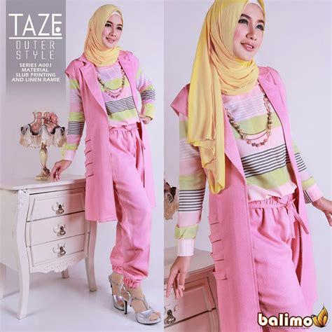 Busana Muslim Gamis Elsa Pink taze pink baju muslim gamis modern