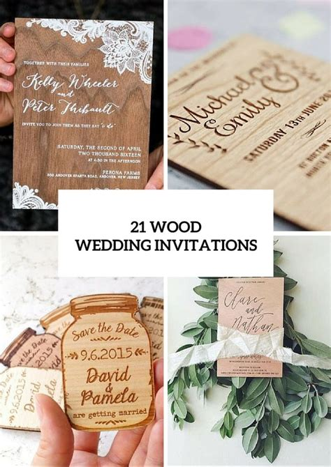 Wedding Invitation Idea by 21 Original Wood Wedding Invitation Ideas Weddingomania