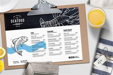 seafood menu templates seafood menu template 28 images seafood menu template