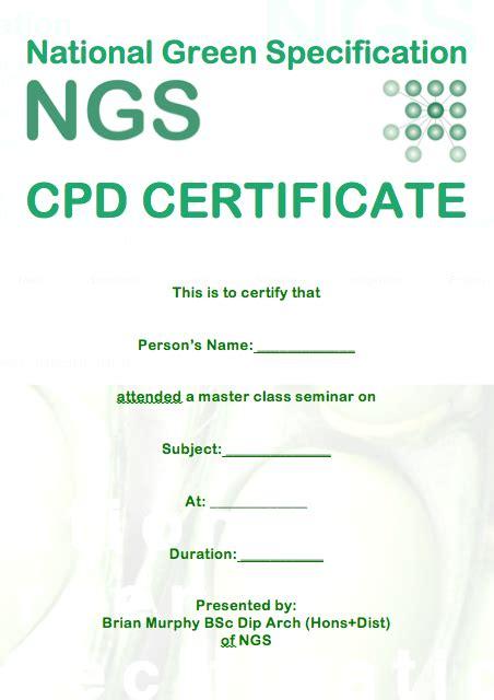 cpd certificate template gbe cpd certificate g 1485 n 1445 green building