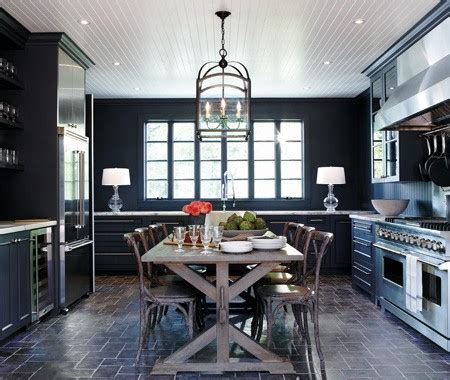 Designer Factory Kitchens Color Watch Dark Rooms Pitch Black And Navy Blue Walls