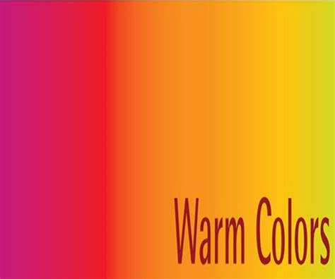 warm colors understanding and the meaning of color within design