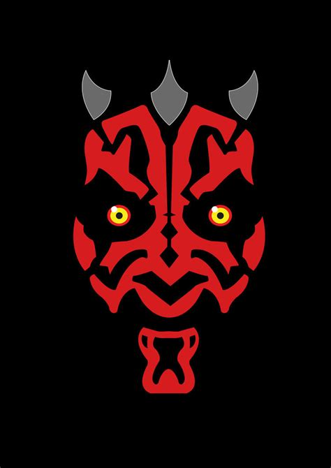 darth maul paint template darth maul by rin alexiel on deviantart