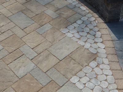 a side by side comparison of sted concrete and pavers