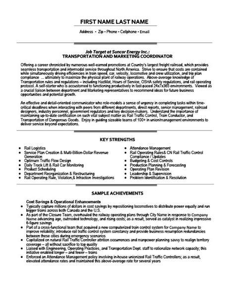 marketing coordinator resume transportation marketing coordinator resume template