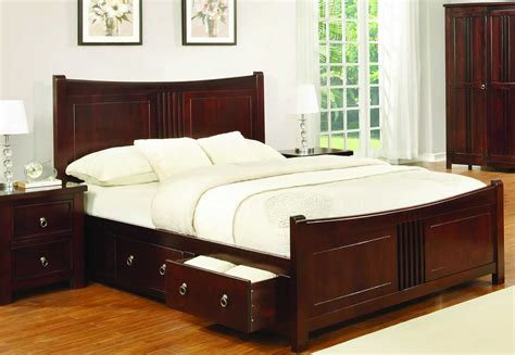 real wood king size bedroom sets sweet dreams curlew cognac drawer bed frame solid wood