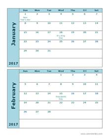 12 month calendar template word 2017 calendar template 2 months per page free printable