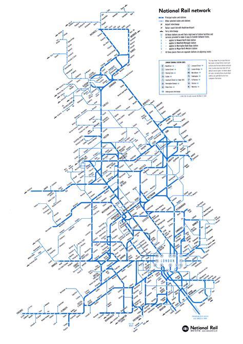 map us rail network maps uk map