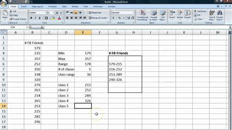 Excel Frequency Table by Basic Statistics Tutorial 7 Frequency Tables From Data