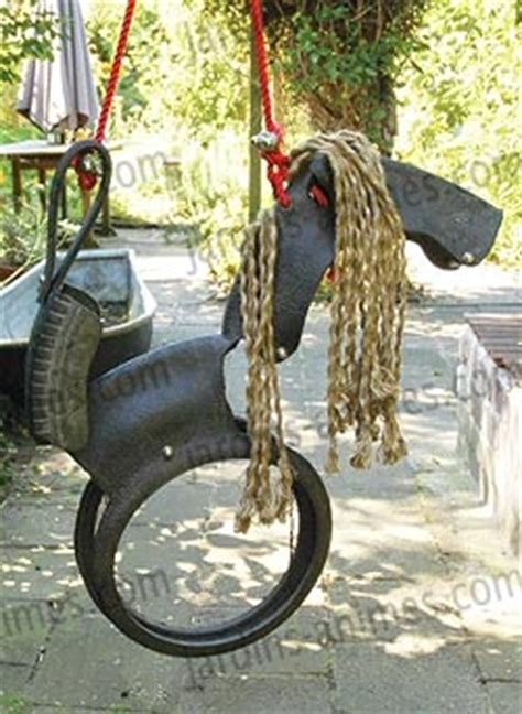 Balancoire Cheval by Balancoire Cheval En Pneu Recycl 233 Mobilier De Jardin