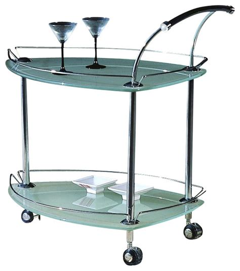 houzz bar cart contemporary triangular rolling tea cart w fr