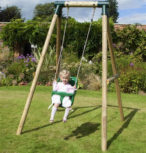 swing set for baby rebo pluto baby wooden garden swing set outdoor toys