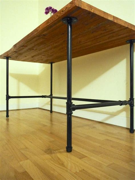 Diy Console Table With Pipe Legs Woodworking Projects Diy Desk Pipe
