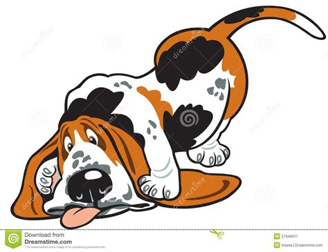 cartoon basset stock image image 27946911