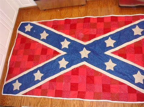 Confederate Flag Quilt by Confederate Flag Quilt White And Blue