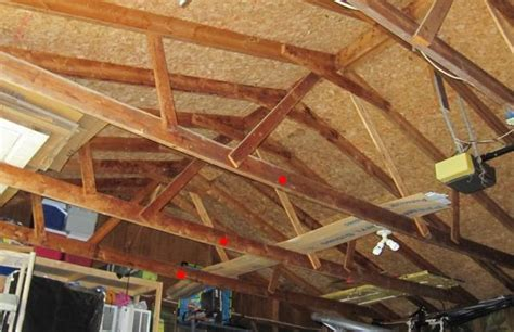 How To Repair Sagging Ceiling by Garage With Leaning Wall And Sagging Roof Line