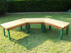wooden benches diy how to build a semi circular wooden bench how tos diy
