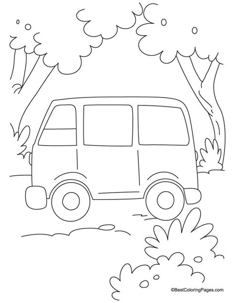 minivan coloring page van drawing for kids www pixshark com images galleries