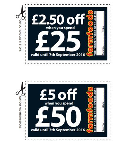 Printable Money Off Vouchers Uk | free farm foods money off vouchers gratisfaction uk