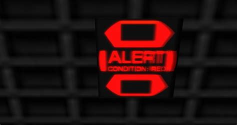 condition red second life marketplace lit up warning sign box alert