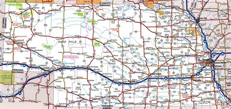 road map nebraska road map