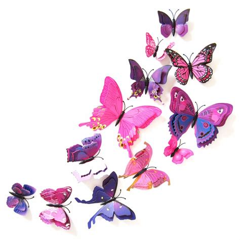 butterfly home decor 3d pvc butterfly wall stickers home decor butterfly wall