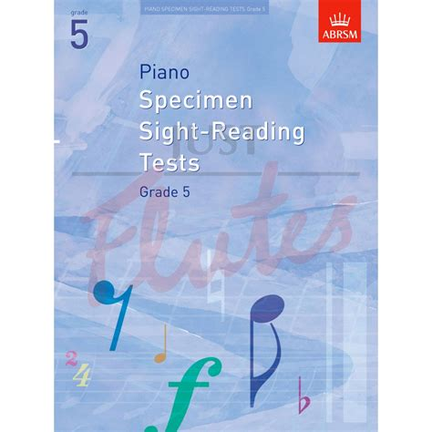 Piano Specimen Sight Reading 4 abrsm specimen piano sight reading tests grade 5 from 2009