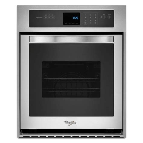 whirlpool 24 in single electric wall oven self cleaning in stainless steel wos51es4es the