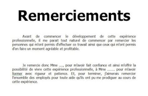 Exemple Lettre De Remerciement Stage Bac Pro Remerciement Rapport De Stage Outils Livres Exercices Et Vid 233 Os