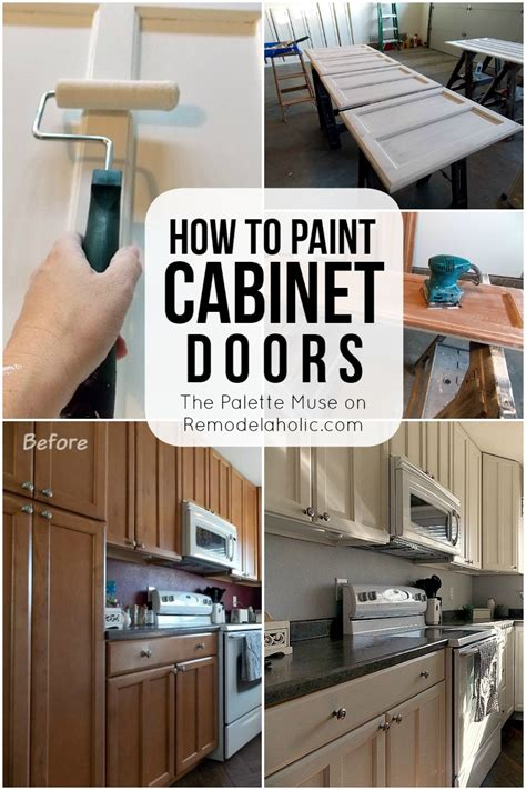 Painted Kitchen Cabinet Doors Remodelaholic How To Paint Cabinet Doors