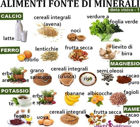 vitamine e alimenti assumiamo abbastanza sali minerali le principali