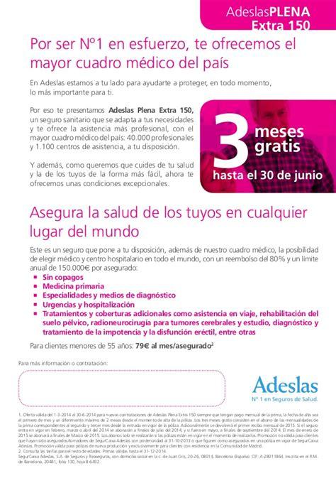 adeslas plena 2014 - Cuadro Medico Adeslas 2014