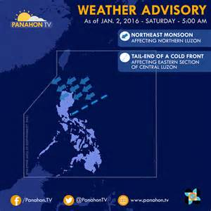 Weather In Philippine Weather Forecast Temperature Drops As 2016