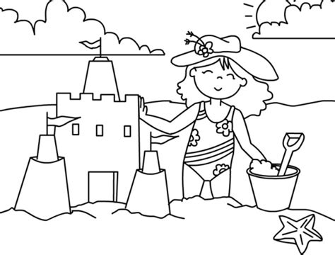 sand castle coloring page coloring book