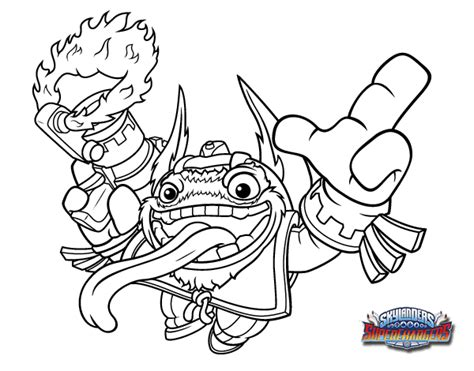 skylanders trigger happy coloring pages coloring pages