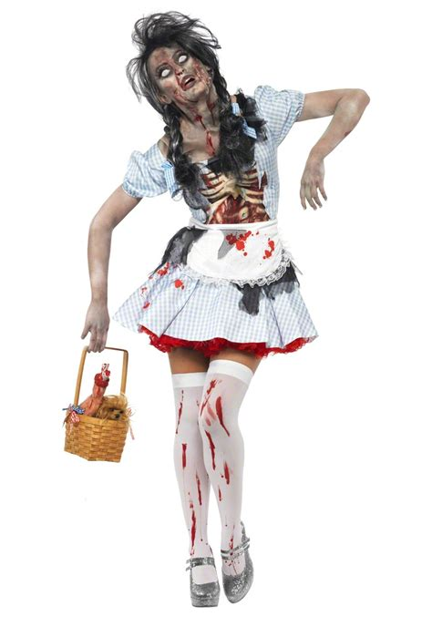 themes for halloween costumes scary zombie dorothy costume unique wizard of oz