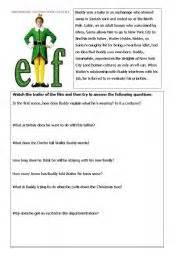 english worksheet elf trailer activity