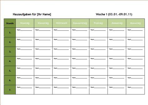 Vorlage Word Wochenplan Word Vorlagen F 252 R Die Schule Office Lernen