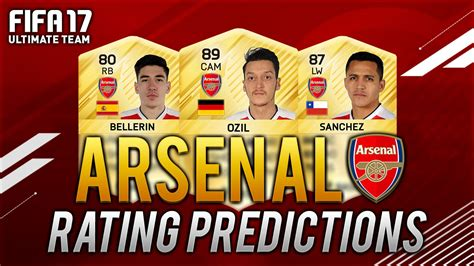 17 fifa player ratings fifa 17 arsenal player rating predictions ft ozil