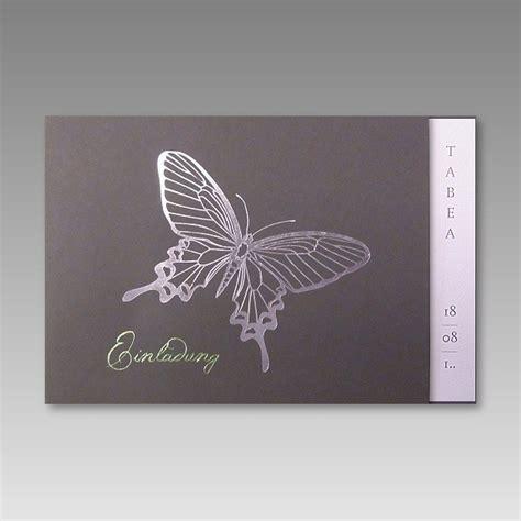 Einladungskarten Hochzeit Schmetterling by G 252 Nstige Einladungskarte F 252 R Die Kommunion Mit Schmetterling