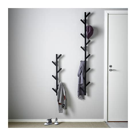ikea coat rack wall tjusig hanger black 78 cm ikea