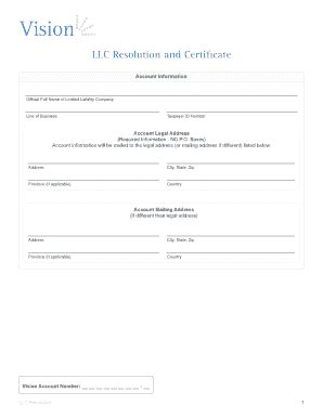 Llc Resolution Fillable Fill Online Printable Fillable Blank Pdffiller Llc Resolution Template